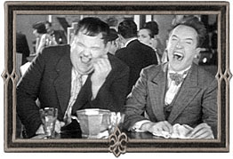 Laughing Laurel and Hardy